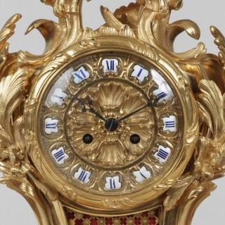 An Elegant Mantle Clock In the Louis XV Manner