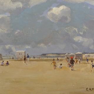Beach Huts on Gorleston Sands, on a June Morning