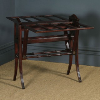 Antique English Victorian Mahogany Architect's Folio / Plan / Chart Folding Table Stand (Circa 1890)