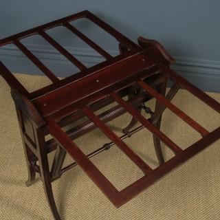 Antique English Victorian Mahogany Architect's Folio / Plan / Chart Folding Table Stand (Circa 1890)