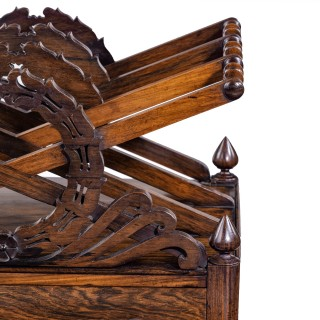 A Regency rosewood Canterbury in the manner of Loudon