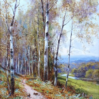 A Woodland Path & A Mountain Stream (A Pair)