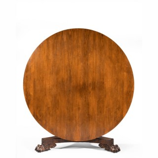 Regency Period Rosewood Circular Table