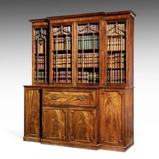 Late Regency Period Mahogany Breakfront Bookcase