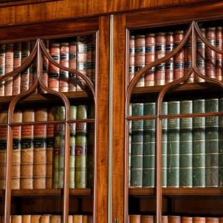 Late Regency Period Mahogany Breakfront Bookcase