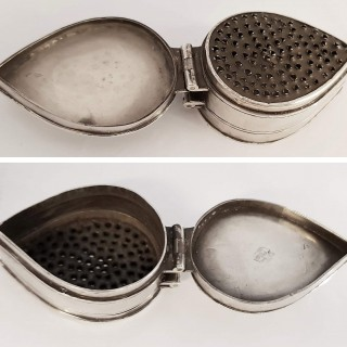 William And Mary Silver Nutmeg Grater