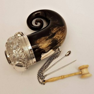 Antique Scottish Silver Snuff Mull