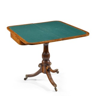 A George IV Anglo-Chinese amboyna card table