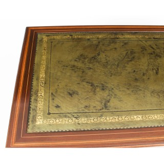 Antique Edwardian Marquetry Inlaid Desk Writing Table c.1890 19th C