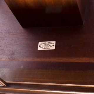 Antique Edwardian Revolving Bookcase By Edwards & Roberts c.1900