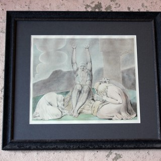 A Group of Nine Framed Early 19thC William Blake Artworks; Six Engravings by Luigi Schiavonetti c.1813 & Three Watercolours