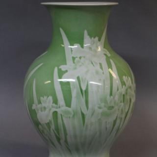 A 19th Century Japanese Makuzu Kōzan porcelain vase
