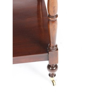 Antique English Regency Period Flame Mahogany What-not C1820 19th C