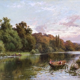 Boating on The Thames, Cliveden Woods