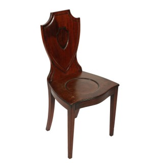 Georgian Mahogany Hall Chair