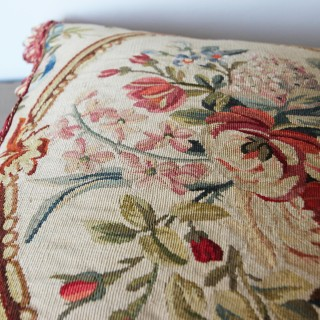 Antique Aubusson cushion