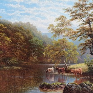 Rydale Lake, Westmorland & On The Wharfe, Bolton Woods, Yorkshire (A Pair)