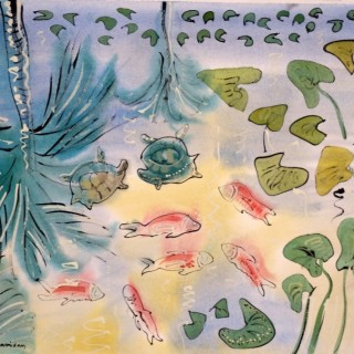 Turtles and Fish at the Jardin Majorelle