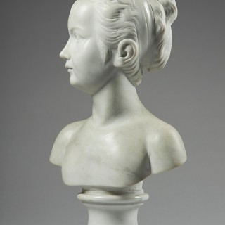 19th Century Marble bust of a Young Girl