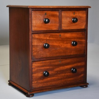 Small mid 19th century mahogany chest of drawers with superb patina