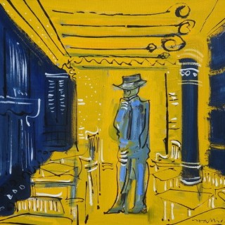 Van Gogh at the all-night café in Arles