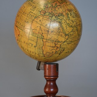 Early 20th century educational table globe by E.J. Arnold & Sons Ltd. Leeds