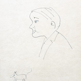 Profile of Man and Dog