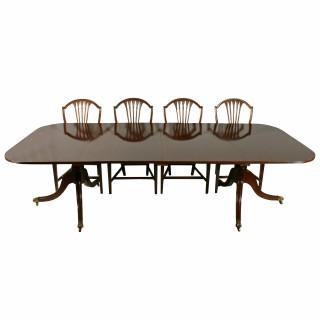 Georgian Twin Pillar Dining Table