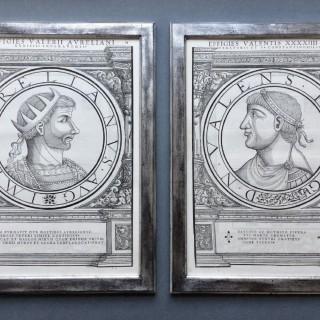 16th century woodcut medallion portraits of Roman Emperors