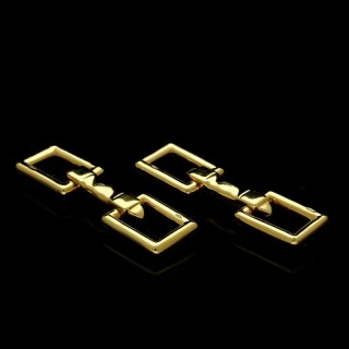 A pair of 18ct yellow gold stirrup cufflinks c.1970's