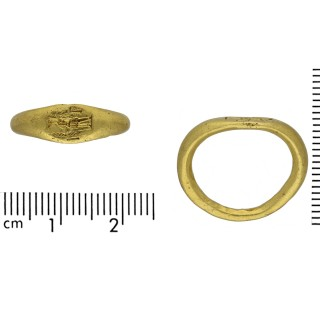 Ancient Roman signet ring, 2nd-3rd century AD.