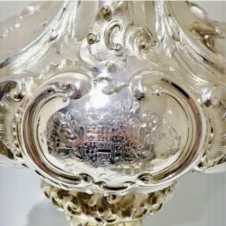 Mid 19th Century Antique Victorian Large Sterling Silver Wine Ewer London 1857 Edward & John Barnard
