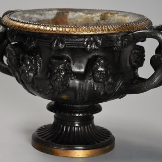 Italian 19th century Grand Tour bronze reduction of 'The Warwick Vase', after the antique