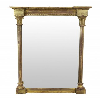 A SMALL GILTWOOD REGENCY MIRROR