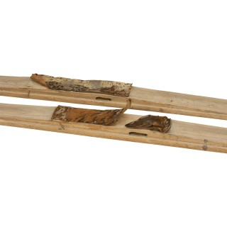 Pair Of Early Scandinavian Skis, Museum Piece