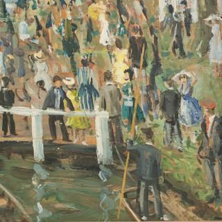 Henley Royal Regatta, Oil Painting On Board By John Alford