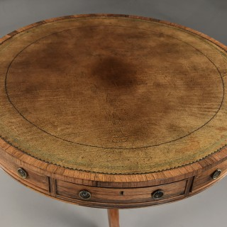 Early 19th century Regency rosewood drum table