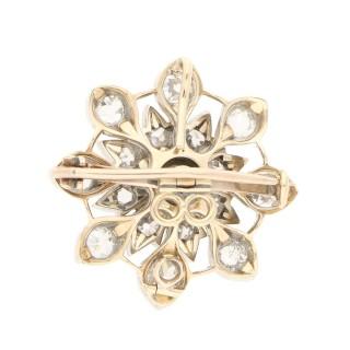 Victorian diamond target brooch pendant