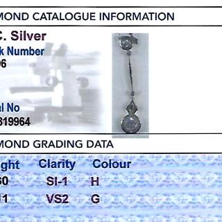0.41ct Diamond and 14 ct Yellow Gold Pendant - Antique Circa 1910