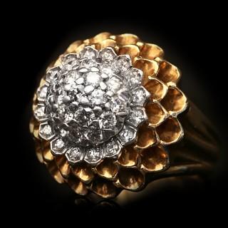 Tiffany & Co. diamond cocktail ring, American, circa 1960.