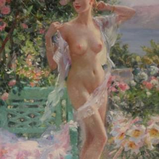 Nude in the Flower Garden