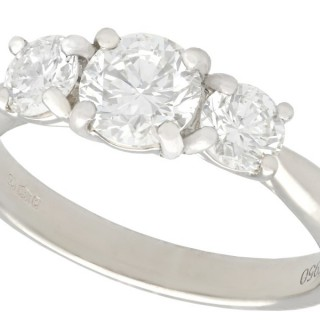 1.24ct Diamond and Platinum Trilogy Ring - Vintage and Contemporary