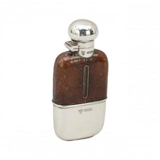 Silver Hip Flask By G & Jw Hawksley