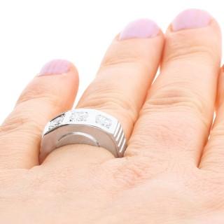 0.96 ct Diamond and 14 ct White Gold Trilogy Ring - Vintage Circa 1950