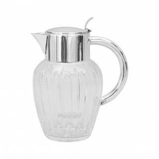 Glass Lemonade Jug With Removable Ice Tube
