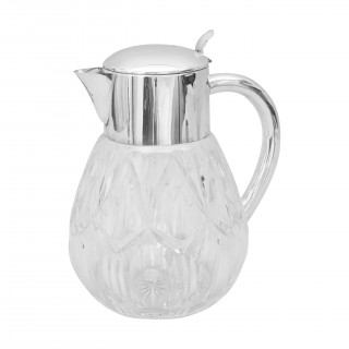 Glass Lemonade Jug With Ice Tube, German.