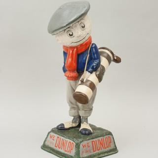 Anique Advertising Dunlop Man, Golf Figure.