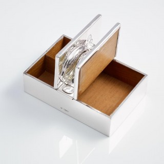 A Sterling Silver Cigar and Cigarette Box by Mappin & Webb Date London 1905