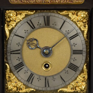 JOHN KNIBB, OXON. A Late 17th century spring driven table clock