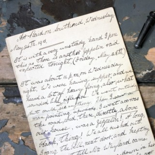 A Poignant WWI Period Hand-Written Account of May 26th 1915; Relating to a Zeppelin Air-Raid